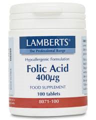 ACIDO FOLICO 400mg 100 TAB LAMBERTS