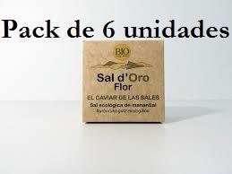 FLOR DE SAL ESCAMADA 125GX 6UNIDADES SAL D´ORO