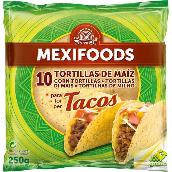 TORTILLAS DE MAIZ 10U UND MEXIFOODS
