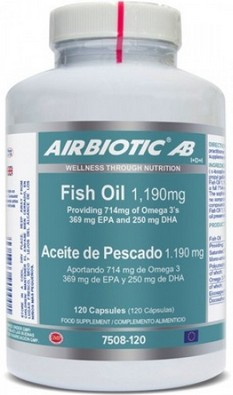 ACEITE DE PESCADO OMEGA 3 + EPA  + DHA 120CAP AIRBIOTIC