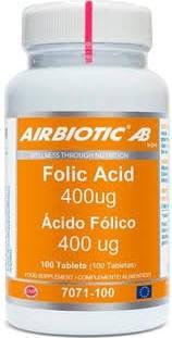 ACIDO FOLICO 400MG 100COMP AIRBIOTIC
