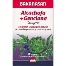 ALCACHOFA + GENCIANA 30grageas BAKANASAN