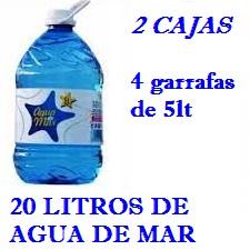 PACK 2 CAJAS 20LT AGUA DE MAR 5LT LACTODUERO