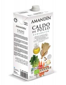 CALDO POLLO NATURAL 1LT ECO AMANDIN