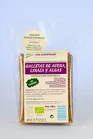 GALLETAS DE AVENA LINAZA Y ALGAS ECO  190G ALGAMAR