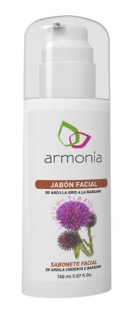 JABON FACIAL ARCILLA GRIS 150ML ARMONIA