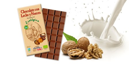 CHOCOLATE LECHE NUECES ECO 100GR CHOCOLATE SOLE