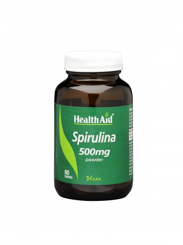 Espirulina  Spirulina platensis 500 mg 60Comp HealthAid