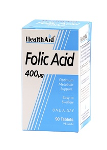 Ácido fólico 400mg HealthAid