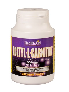 Acetil-L-Carnitina 550 mg HealthAid