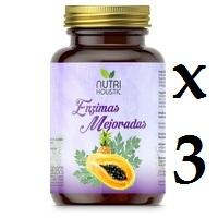 ENZIMAS MEJORADAS 60 CAPSULAS 3 unidades NUTRI HOLISTIC