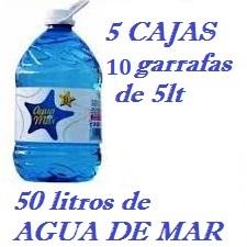 PACK 5 CAJAS 50LT AGUA DE MAR 5LT LACTODUERO