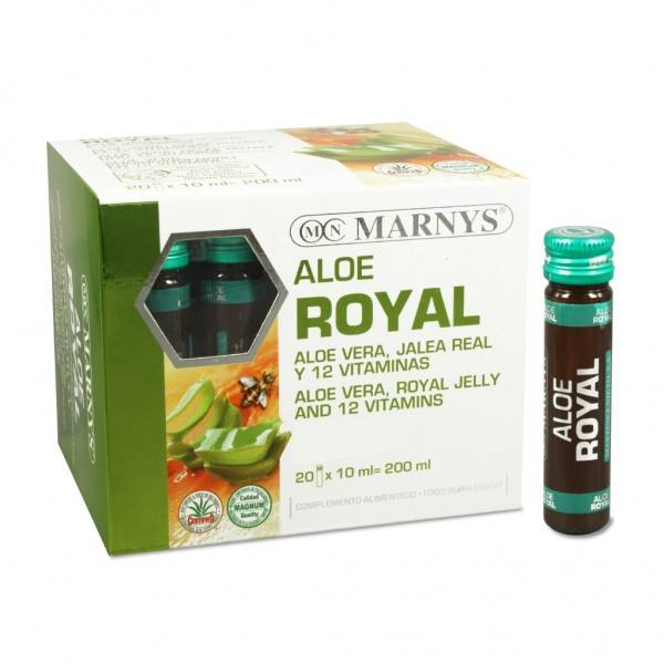 3X2 ALOE ROYAL 20 VIALES MG MARNYS