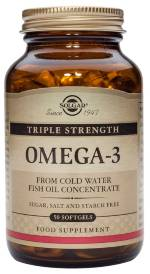 OMEGA 3 TRIPLE CONCENTRACION 50CAP SOLGAR