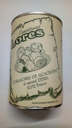 CORAZONES DE ALCACHOFA AL NATURAL 425G LORES