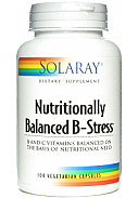 NUTRITIONALLY BALANCED B STRESS 100CAP SOLARAY