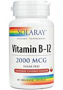 VITAMINA B12 2000MCG SUBLINGULAL 90CAP SOLARAY