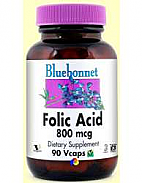 ACIDO FOLICO 800MG 90CAP BLUEBONNET