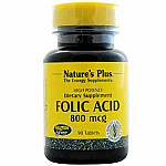 ACIDO FOLICO COMP 800MG NATURE´S PLUS