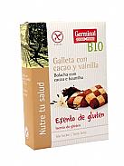 GALLETAS CACAO VAINILLA S/G BIO 200GR  GERMINAL