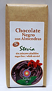 CHOCOLATE NEGRO ALMENDRAS Y STEVIA 150GR SALUZ 33