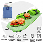 PORTA BOCADILLOS REUTILIZABLE ECO AZUL ROLL EAT