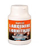 L-Arginina/L-Ornitina 600 mg/300 mg 60 Comp HealthAid