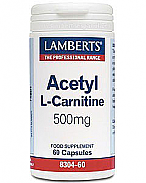 ACETIL L-CARNITINA 500MG LAMBERTS