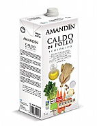 CALDO POLLO NATURAL 1LT ECO AMANDIN