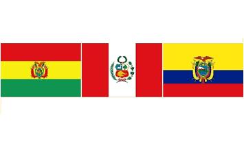 Ecuador, Bolivia y Perú