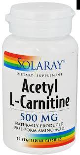 ACETIL CARNITINA 500MG 30CAP SOLARAY