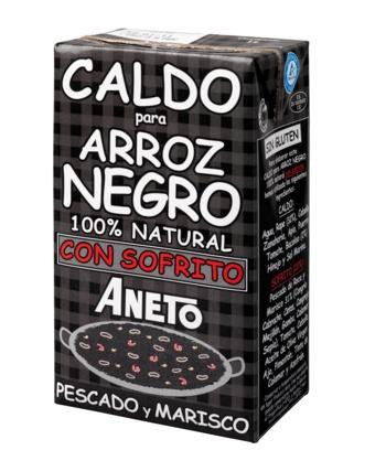 CALDO PAELLA ARROZ NEGRO 1LT. ANETO