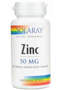 ZINC 50MG 60 CAP SOLARAY
