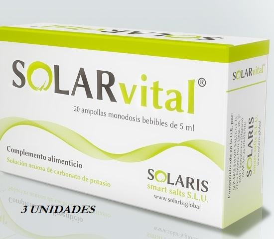SOLARVITAL 20AMPOLLAS PACK 3 UNIDADES SOLARIS