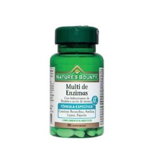 MULTI DE ENZIMAS con betaina y aceite menta 90C NATURE´S BOUNTY