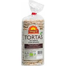 TORTAS ARROZ SESAMO C/SAL BIO 130GR BIOGRA