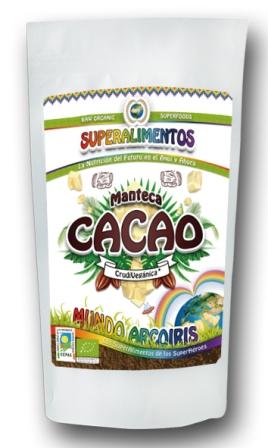 CACAO MANTECA CRUDO Y ECOLÓGICO 1KG MUNDO ARCOIRIS