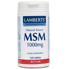MSM 120CAP 1000MG LAMBERTS