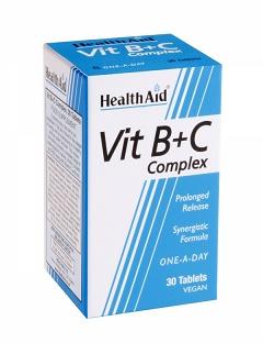 Complejo B+C 30Cáps HealthAid