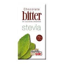 CHOCOLATE NEGRO BITER 72% STEVIA 100GR CHOCOLATE SOLE