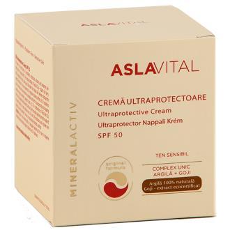 CREMA FACIAL alta proteccion solar SPF50 50ml  ASLA VITAL (Dr. Ana Aslan)