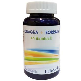 ONAGRA + BORRAJA y VIT E 50GUMMIES HELIOSAR