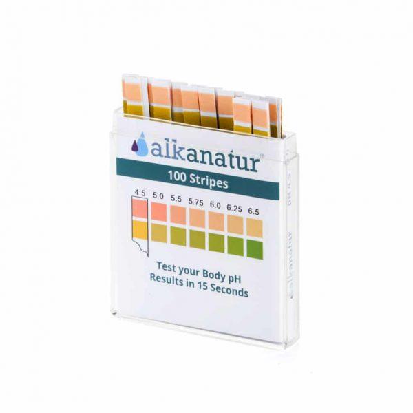 TIRAS REACTIVAS PARA MEDIR pH ALTA PRECISION 100 TIRAS ALKANATUR