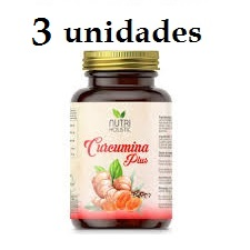 CURCUMINA PLUS 3 unidades 60 CAPSULAS NUTRI HOLISTIC