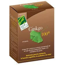 GINKGO 100 60 cápsulas 100 % NATURAL