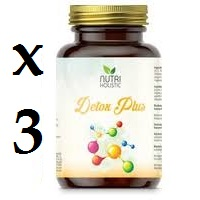 DETOX PLUS 3 unidades 60 CAPSULAS NUTRI HOLISTIC