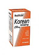 Ginseng coreano (Panax ginseng) 250mg 50Cáps HealthAid