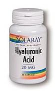 HYALURONIC ACID 60MG 30CAP SOLARAY