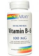 VITAMINA B6 60CAP 100MG SOLARAY