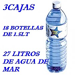 PACK 3 CAJAS 27 LT AGUA DE MAR 1.5LT LACTODUERO